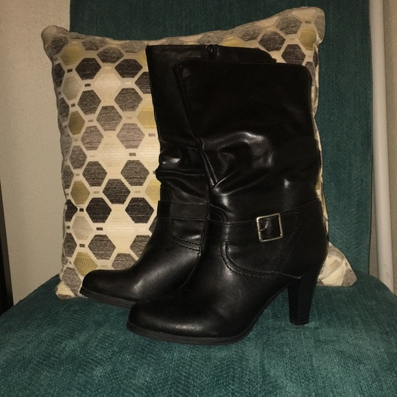 jcpenney Shoes   Heeled Boots   Poshmark
